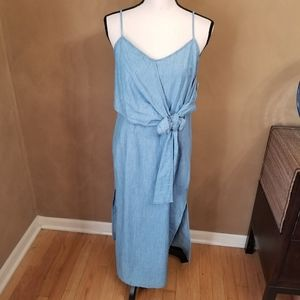 Topshop Chambray Dress in size 8
